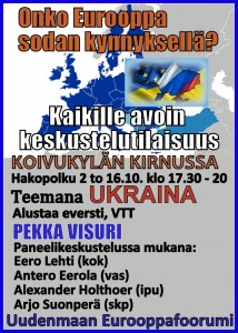 16.10. keskustellaan Euroopan turvallisuudesta